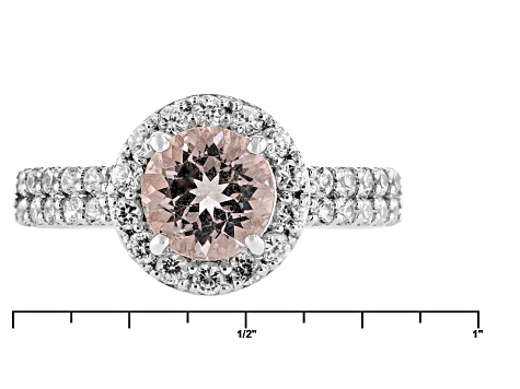 Pink Morganite Sterling Silver Ring 1.95ctw