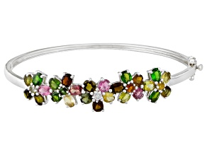 Multi-Color Tourmaline Sterling Silver Bracelet. 7.80ctw