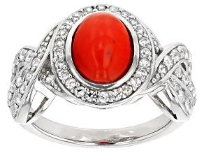 Orange Ethiopian Opal Sterling Silver Ring. 1.86ctw