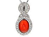 Orange Ethiopian Opal Sterling Silver Pendant With Chain. 1.30ctw