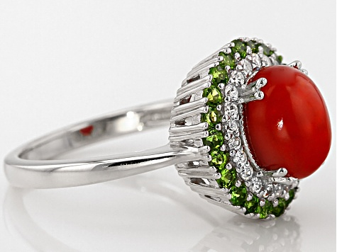Orange Ethiopian Opal Sterling Silver Ring. 1.52ctw
