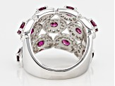 Purple Rhodolite Sterling Silver Ring. 4.87ctw