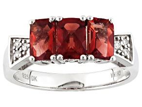 Red Labradorite Silver Ring 1.31ctw