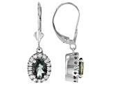 Green Labradorite Sterling Silver Earrings 1.41ctw