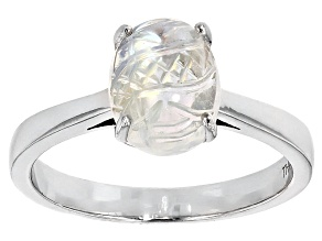 Multi Color india Moonstone Sterling Silver Ring