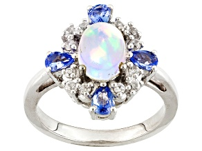 Ethiopian Opal Sterling Silver Ring 1.67ctw