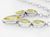 Canary Yellow Quartz Sterling Silver Necklace 12.12ctw