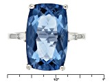Color Change Blue Fluorite Sterling Silver Ring. 8.22ctw