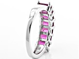 Raspberry Color Rhodolite Sterling Silver Ring 2.80ctw