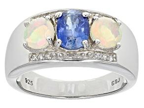 Blue Kyanite Sterling Silver Ring. 1.22ctw
