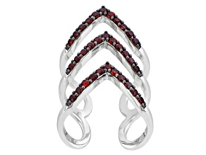 Red Garnet Sterling Silver Ring 1.32ctw