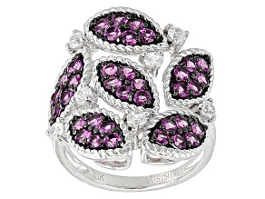 Purple Rhodolite Sterling Silver Ring 2.33ctw