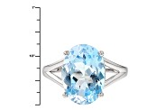 Sky Blue Topaz Sterling Silver Ring 6.20ct