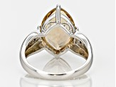 Brown Bolivian Champagne Quartz Sterling Silver Ring 3.47ctw