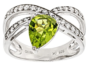 Green Peridot Sterling Silver Ring 2.04ctw