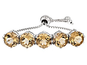 Champagne Quartz Sterling Silver Sliding Adjustable Bracelet 14.87ctw