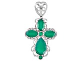 Green Onyx Sterling Silver Enhancer