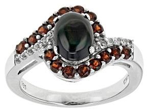 Black Ethiopian Opal Sterling Silver Ring. 1.38ctw
