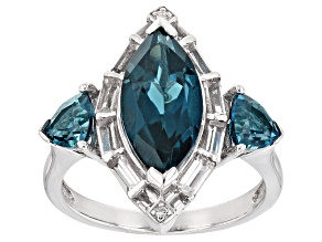 London Blue Topaz Sterling Silver Ring 4.07ctw