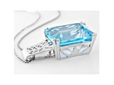 Glacier Topaz™ Sterling Silver Pendant With Chain 16.74ct