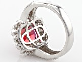 Red Lab Created Bixbite Sterling Silver Ring 1.52ctw