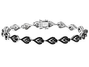 Black Spinel Sterling Silver Bracelet 2.94ctw
