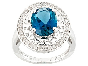 London Blue Topaz Sterling Silver Ring 2.93ctw