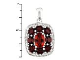 Red Labradorite Sterling Silver Pendant With Chain 2.67ctw