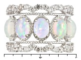 Ethiopian Opal Sterling Silver Ring 3.27ctw