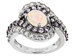 Ethiopian Opal Sterling Silver Ring 2.52ctw