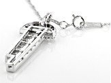 White Diamond 10K White Gold Pendant 0.80ctw