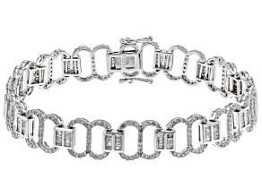 White Diamond 10K White Gold Bracelet 3.25ctw