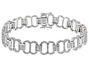 White Diamond 10K White Gold Bracelet 3.25ctw