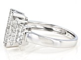 White Diamond 14K White Gold Ring 1.40ctw