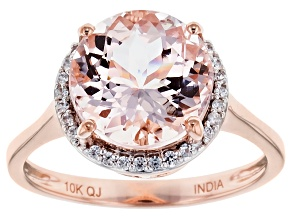 Pink Morganite 10k Rose Gold Ring 3.49ctw.