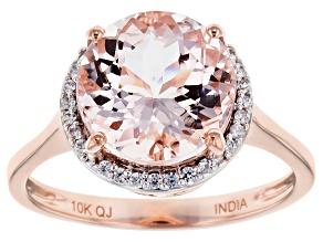 Pink Morganite 10k Rose Gold Ring 3.49ctw.