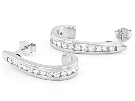 White Cubic Zirconia Rhodium Over Sterling Silver Earrings 1.68ctw
