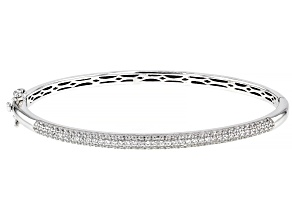 White Cubic Zirconia Platinum Over Sterling Silver Bracelet 3.63ctw