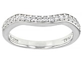 White Cubic Zirconia Platinum Over Sterling Silver Ring With Band 7.28ctw