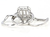 White Cubic Zirconia Rhodium Over Sterling Silver Ring With Bands 2.68ctw
