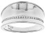 White Cubic Zirconia Rhodium Over Sterling Silver Band Ring 0.25ctw