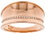 White Cubic Zirconia 18K Rose Gold Over Sterling Silver Band Ring 0.25ctw