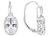White Cubic Zirconia Rhodium Over Sterling Silver Jewelry Set 20.36ctw