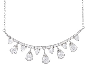 White Cubic Zirconia Rhodium Over Sterling Silver Necklace 3.80ctw