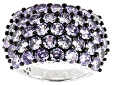Lavender Cubic Zirconia Rhodium Over Sterling Silver Ring 6.85ctw