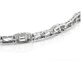 White Cubic Zirconia Rhodium Over Sterling Silver Tennis Bracelet 10.00ctw