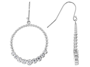 White Cubic Zirconia Rhodium Over Sterling Silver Earrings 1.40ctw