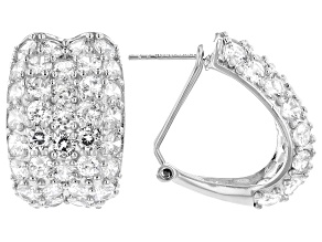White Cubic Zirconia Rhodium Over Sterling Silver Earrings 17.00ctw