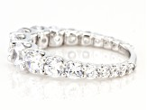 White Cubic Zirconia Rhodium Over Sterling Silver Band Ring 3.00ctw