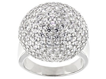 Picture of White Cubic Zirconia Rhodium Over Sterling Silver Ring 2.96ctw